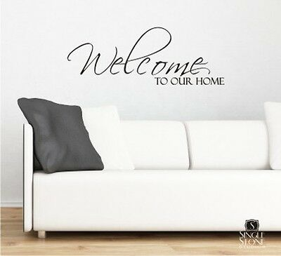 Door wall sticker // decal Funny ST068 WELCOME SIGN