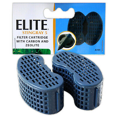 Elite Stingray 5 Carbon Cartridge Filter Media Replacement Refill Aquarium