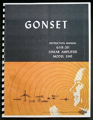 GONSET GSB201 GSB-201 Model 3340 Linear Amplifier Instruction Manual