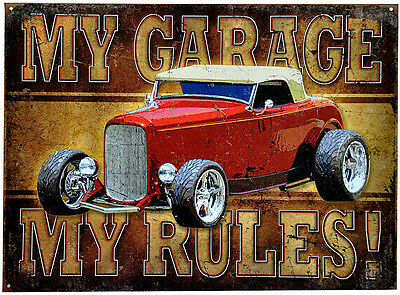 * Restauration Auto Garage Hot Rod Kustom Vintage Oldtimer Schild *506