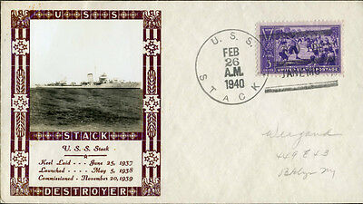 #855 On U.s.s. Stack Cachet By Louis Weigand Bn2931