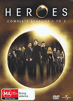 Heroes Season 1+2+3 Dvds Tv Series Action Supernatural 17 Disc Edition New+Seal