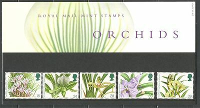 ORCHIDS ON GREAT BRITAIN UNITED KINGDOM 1993 Scott 1493-1497 PRES. PACK MNH