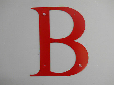 11'' Extra Large Letters A - Z  1/8 Aluminum  Will Never Rust Red Black Plain