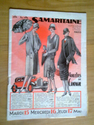 catalogue - a la samaritaine 1928 - toilette de campagne