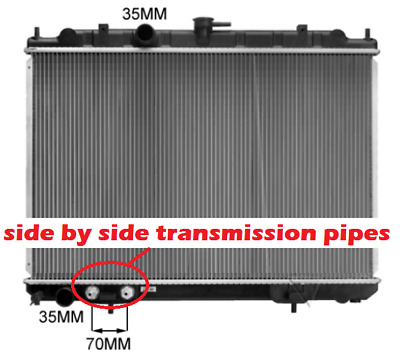 Radiator Nissan Xtrail X Trail Auto 01-07 T30 2.5Ltr Side By Side Oil Cooler New