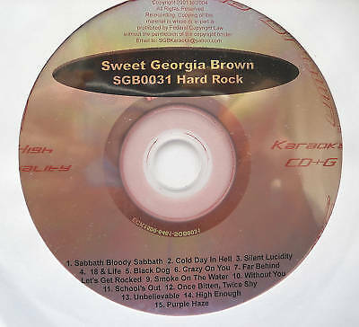 **Sweet Georgia Brown Karaoke Cdg Disc Hard Rock **