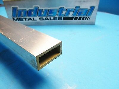 "3/4"" x 1-1/2"" x 12""-Long x 1/8"" Wall 6063 T52 Aluminum Rectangle Tube-->3 Pack"