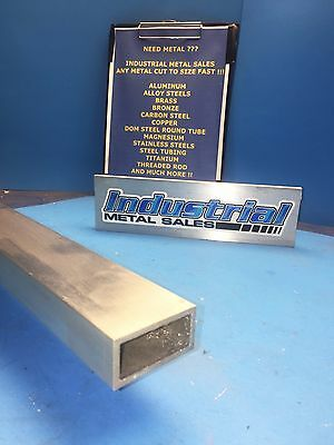 "1"" x 2"" x 60""-Long x 1/8"" Wall 6063 T52 Aluminum Rectangle Tube-->1"" x 2"" x .125"