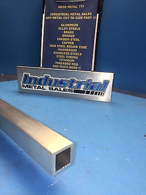 "3/4"" x 60""-long x 1/8"" Wall 6063 T52 Aluminum Square Tube-->.750"" x .125"" wall"