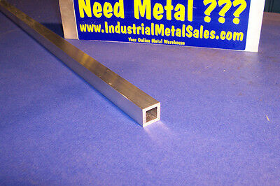 "3/4"" x 72""-long x 1/8"" Wall 6063 T52 Aluminum Square Tube-->.750"" x .125"" wall"