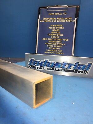 "1-1/2"" x 72""-long x 1/8"" Wall 6063 T52 Aluminum Square Tube-->1.500"" x .125"" w"