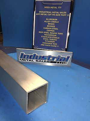 "2"" x 72""-Long x 1/8"" Wall 6063 T52 Aluminum Square Tube-->2.0"" x .125"" wall"