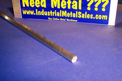 "1/2"" x 24""-Long 6061 T6 Aluminum Hexagon Bar -->.500"" 6061 T6 Aluminum Hex"