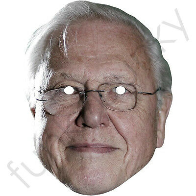 David Attenborough Celebrity Card Face Mask - All Our Masks Are Pre-Cut!***
