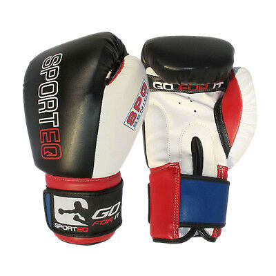 Sporteq Pro Boxing Sparring Gloves, Premium MMA Training Glove  4 - 16oz
