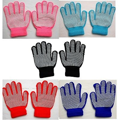 12 pairs x Kids Winter Warm Magic Gripper Grip Gloves WHOLESALE JOB LOT BULK BUY