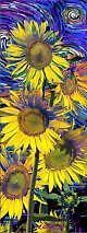 Artgame 3D Bookmark - Sunflowers