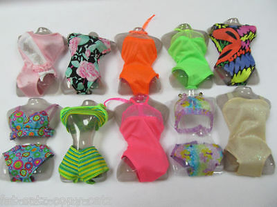 Gorgeous Cute & Unique Barbie Doll Set Of 2 Bikini's/Swimming Costume Ukseller