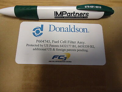 Donaldson P604745 Air Filter, Fuel Cell Filter Assy. Brand New!