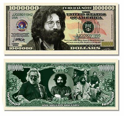 50 Factory Fresh Jerry Garcia (Grateful Dead) Million Dollar Bills