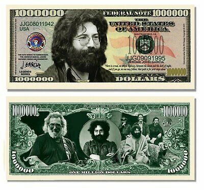 5 Factory Fresh Jerry Garcia (Grateful Dead) Million Dollar Bills