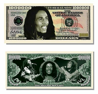 100 Factory Fresh Bob Marley Million Dollar Bills New!