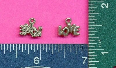 100 wholesale lead free pewter love charms 1243