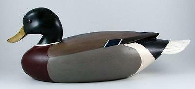 W. Bradford 2004 Carved Duck Decoy Signed Wood Mallard