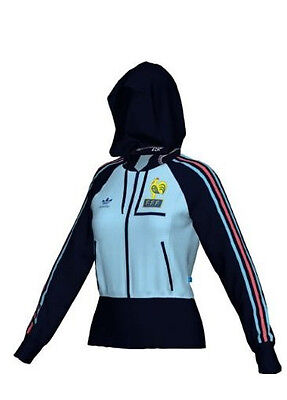 Adidas FRANCE WOMEN'S HOODED RETRO TRACK TOP. New w/Tags. Retail $75. Size XL