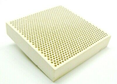 "CERAMIC HONEYCOMB BLOCK SOLDERING PLATE WITH HOLES JEWELRY HEAT BOARD 4"" x 4"""