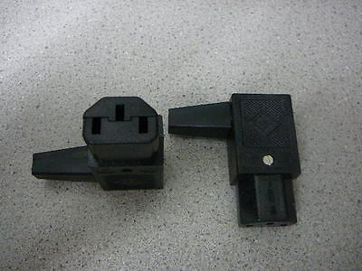 IEC 60320 C13 & C15 Female Power Cord Plug; R/A Right Handed Connection Qty.1