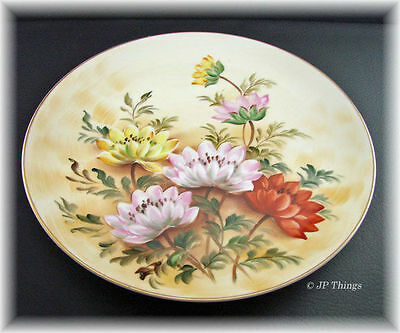 Beautiful Lefton Multi Colored Floral Decorative China Plate SL 1283