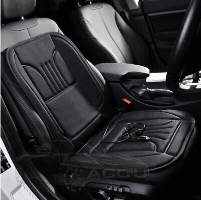 12v Car Van Black Front Seat Cover Thermal Thermo Heated Cushion With Switch