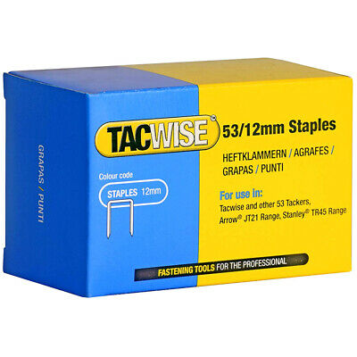 Tacwise 0450 Type 53/12 Series Staples 12mm 5000 Pack