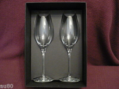 ORREFORS crystal Difference sparkling wine set/2  NIB!!  Gorgeous!!!