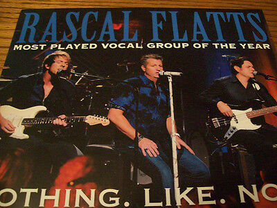 Rascal Flatts Vocal Group CMA Voter Request Photo Card