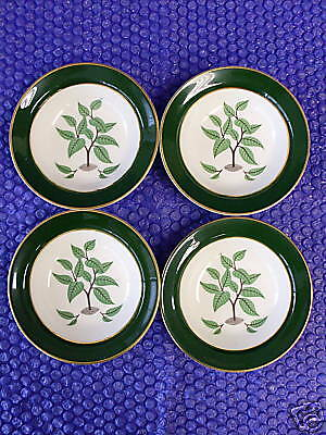 "LOT of 4 Taylor Smith Coffee Tree 5 1/4"" Fruit Bowls"