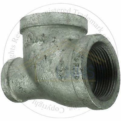 """5 x Gal. Malleable Pipe Fitting  Reducing Tee 3/4""""x 1/2""""x 3/4''"""