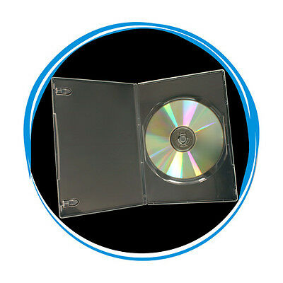 50 Clear Transparent 7mm Slim Single CD DVD Movie Case Storage Box Wholesale