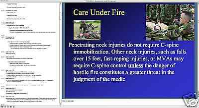 COMBAT MEDIC BTLS CASUALTY ASSESSMENT PowerPoint Presentation on CD