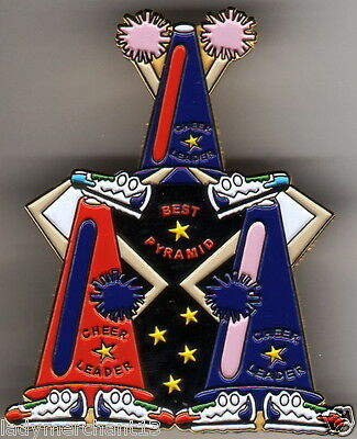 """BEST PYRAMID"" Megaphone ""CHEER LEADER"" ..EXTRA LARGE Lapel Pins (25) All New!!!"