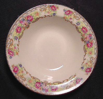 Edwin Knowles Pink Rose with Floral Scroll Dessert Bowls