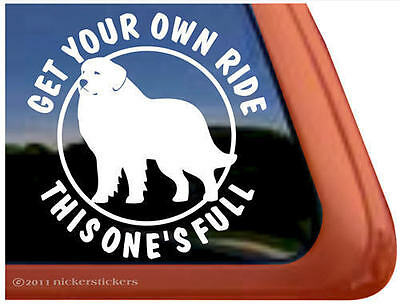 FULL RIDE ~ GREAT PYRENEES High Quality Dog Window Decal Sticker