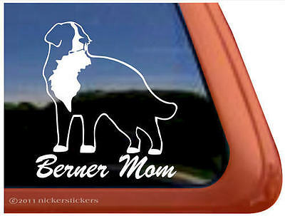 BERNER MOM Bernese Mountain Dog Auto Vinyl Window Sticker Decal ~ Super Gift!