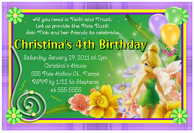 Tinkerbell Birthday Party Invitations 699 PicClick – Tinkerbell Birthday Invites