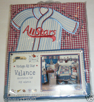 Kidsline Vintage All Star TAB TOP VALANCE sports baseball soccer football NEW
