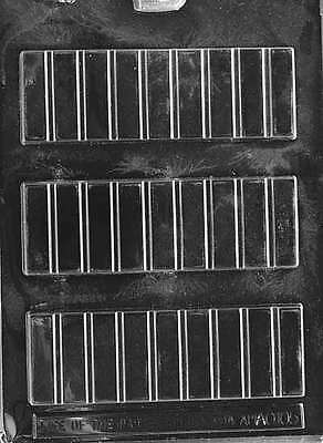 Candy Traditional 2 oz. BREAK APART BAR Chocolate Candy Mold Soap 6 x 2 5/16 DEE