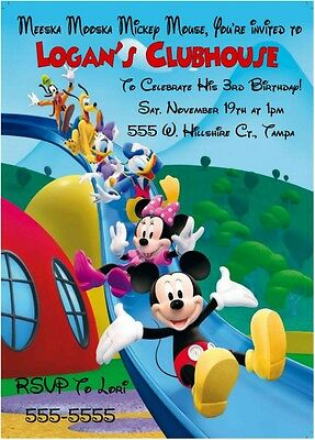 MICKEY MOUSE Clubhouse Ticket Party Invitations 800 PicClick