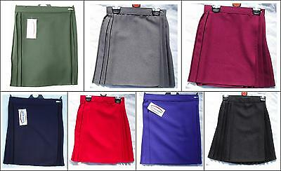 """NEW SCHOOL GYM  PE NETBALL GAMES SPORTS WRAPOVER SKIRTS 22""""-36"""" age 4 TO ADULTS"""
